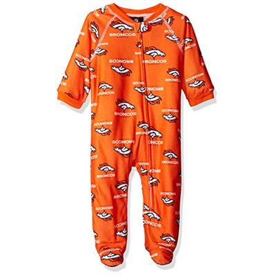 NFL by Outerstuff Boys' NFL Newborn & Infant Team Logo Coverall, Orange, 12 Months