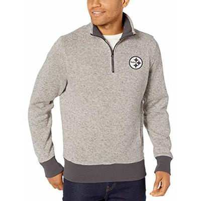 OTS NFL Pittsburgh Steelers Men's Anchorage 1/4-Zip Pullover, Double Arch, X-Large