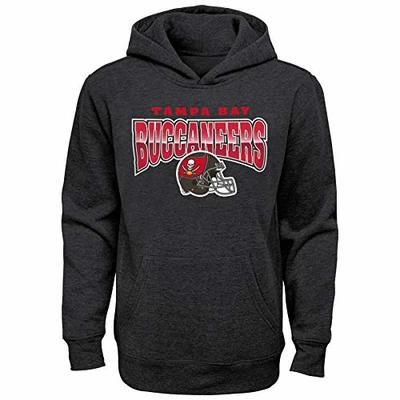 NFL Youth Boys (6-20) Chromed Out Charcoal Fleece Hoodie, Tampa Bay Buccaneers Large (14-16)