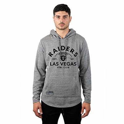 Ultra Game NFL Las Vegas Raiders Mens Fleece Hoodie Pullover Sweatshirt Vintage Logo, Gray Snow, XX-Large