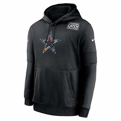Dallas Cowboys NFL Dallas Cowboys Mens Nike Crucial Catch Therma Hoodie, Black, X-Large