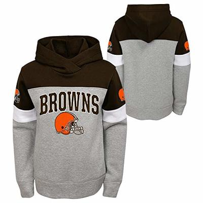 Outerstuff NFL Youth Boys (8-20) First & Ten Pullover Hoodie, Cleveland Browns Medium (10-12)