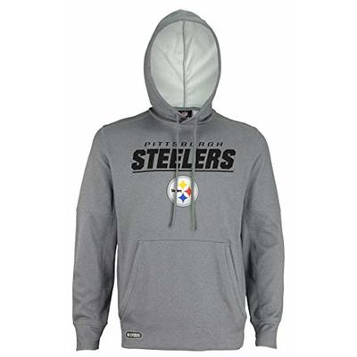 NFL Football Men's Stated Pullover Performance Hoodie, Pittsburgh Steelers, Large