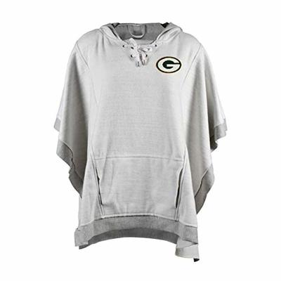 Littlearth NFL Green Bay Packers Heather Hoodie Poncho, Gray, One Size