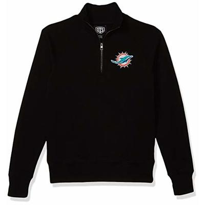 OTS NFL Miami Dolphins Men's Fleece 1/4-Zip Pullover, Alternate Logo, Large