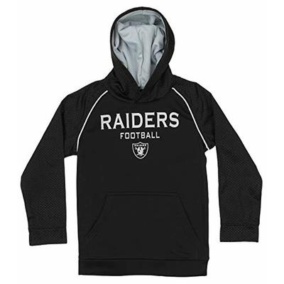 Outerstuff NFL Big Boys (4-18) Performance Team Color Textured Hoodie, Oakland Raiders Small (6/7)