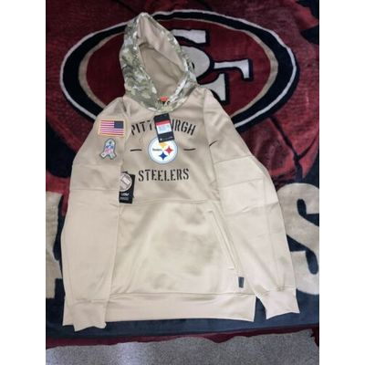 Nike Pittsburgh Steelers NFL STS Salute To Service Hoodie Sz L AT6745 297