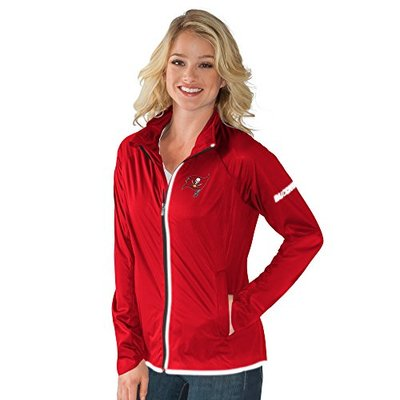 NFL Tampa Bay Buccaneers Women's Batter Light Weight Full Zip Jacket, Large, Red