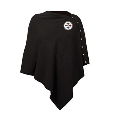 NFL Seattle Seahawks Black Out Button Poncho