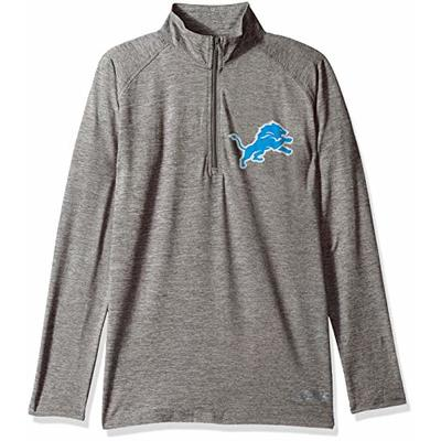 Zubaz NFL Detroit Lions Women's 1/4 Zip Sweatshirt, Gray, Small