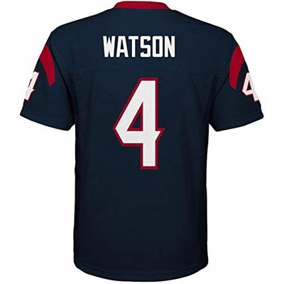 Outerstuff Deshaun Watson Houston Texans NFL Youth 8-20 Navy Home Mid-Tier Jersey (Youth Large 14-16)