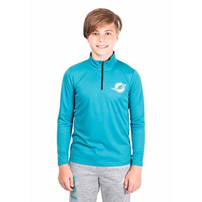 NFL Ultra Game Miami Dolphins Quarter-Zip Active Pullover Shirt, Large, Team Color