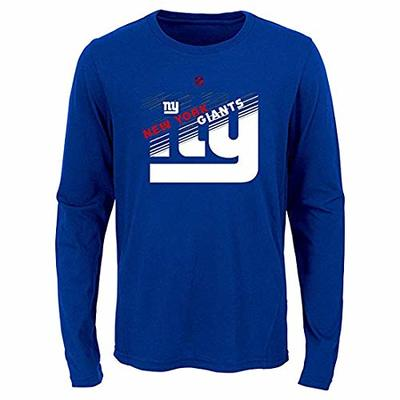 Outerstuff NFL Youth Boys (8-20) Flux Long Sleeve Ultra Tee, New York Giants Youth Medium (10-12)