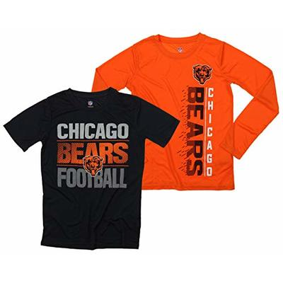 Outerstuff NFL Boys Youth Football Fan Two Performance T-Shirt Set, Chicago Bears, Small 8