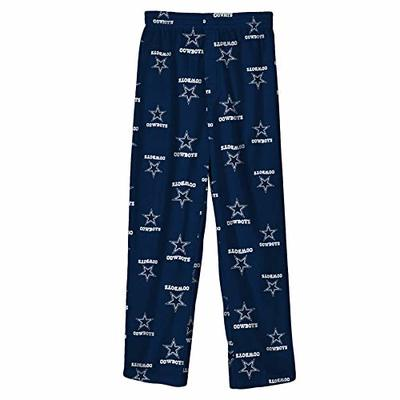 Dallas Cowboys NFL Team Color Printed Pant Youth, Navy, Large