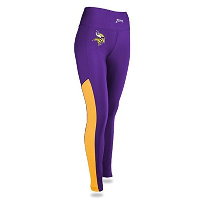NFL Zubaz Womens Minnesota Vikings Solid Color Leggings, Small, Multi