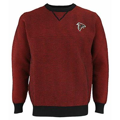 FOCO NFL Mens Atlanta Falcons Poly Knit Crew Neck Sweater, X-Large