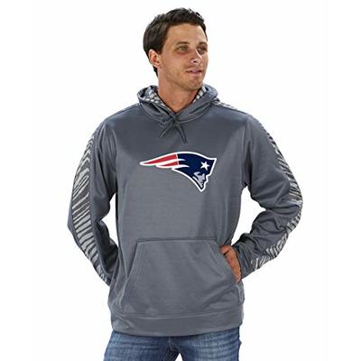 NFL New England Patriots Men's Pullover Hoodie, Gray, Large