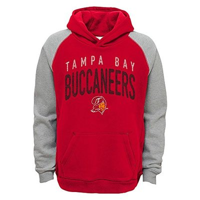 Outerstuff Tampa Bay Buccaneers NFL Foundation Retro Logo Raglan Pullover Hoodie Youth