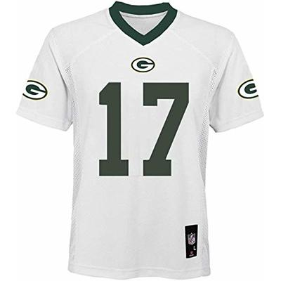 Davante Adams Green Bay Packers NFL Boys Youth 8-20 White Road Mid-Tier Jersey (Youth Large 14-16)