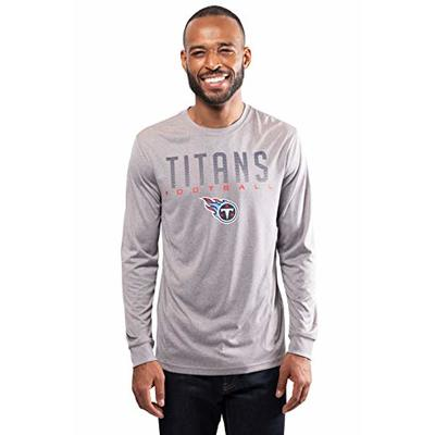 NFL Ultra Game Tennessee Titans Active Long Sleeve Tee Shirt, X-Large, Heather Grey