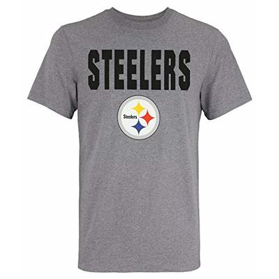New Era NFL Men's 50 Yard Line Dri-Fit Short Sleeve T-Shirt, Pittsburgh Steelers, X-Large