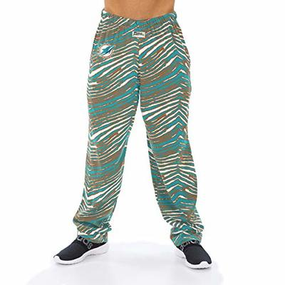 NFL Men's Classic Zebra Print Team Logo Pants, Miami Dolphins Medium