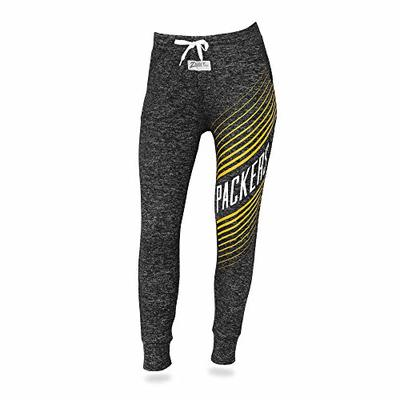Zubaz NFL Green Bay Packers Female Joggers, Medium, Gray
