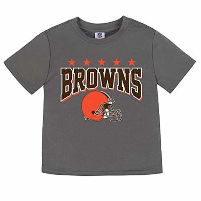 NFL Cleveland Browns Unisex Short-Sleeve Tee, Gray, 4T