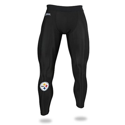 Zubaz NFL Pittsburgh Steelers Male NFL Solid Leggings, Black, X-Large