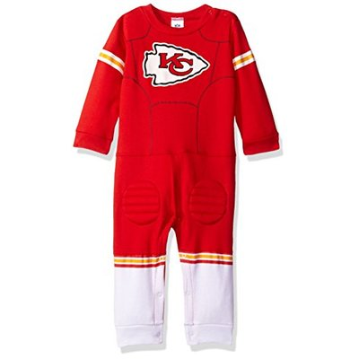 NFL Kansas City Chiefs Unisex-Baby Footysuit Coverall, Red, 18 Months