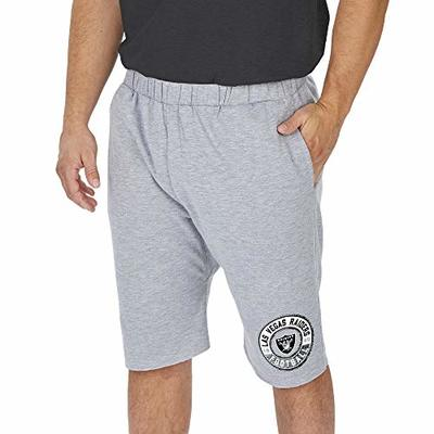 Zubaz NFL Las Vegas Raiders Men's Cut-Off Sweat Short, Light Heather Gray, XX-Large