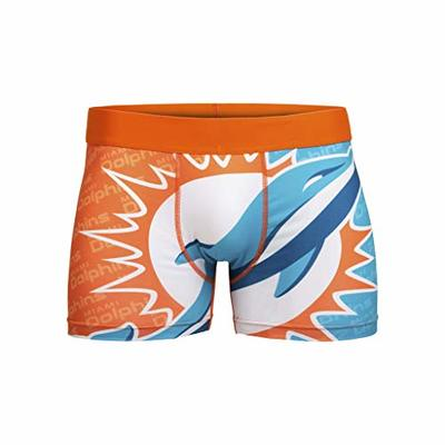 FOCO NFL Miami Dolphins Mens Printed Big Logo Compression UnderwearPrinted Big Logo Compression Underwear, Team Color, XXL