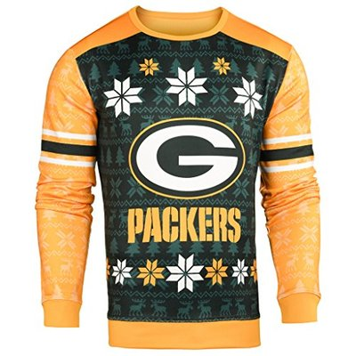 Forever Collectibles NFL Men's Printed Ugly Sweater,Green Bay Packers