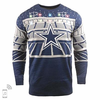 NFL Dallas Cowboys BLUETOOTH Ugly Sweater, Large