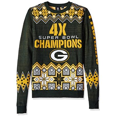 NFL Green Bay Packers COMMEMORATIVE Ugly Sweater, Large