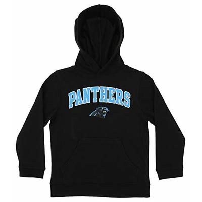 Outerstuff NFL Youth Boys (4-18) Team Color Fleece Hoodie, Carolina Panthers Small (6-7)
