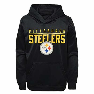 Outerstuff NFL Youth 8-20 Performance Pacesetter Pullover Sweatshirt Hoodie (Large 14/16, Pittsburgh Steelers)