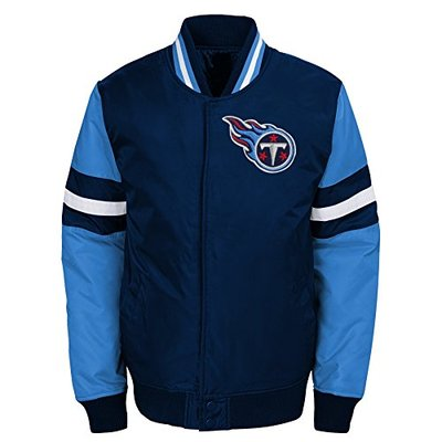 """NFL Tennessee Titans Boys Outerstuff """"Legendary"""" Color Blocked Varsity Jacket, Youth X-Large (18), Dark Navy"""