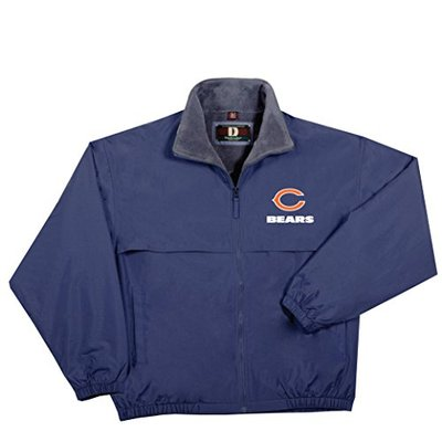 NFL Chicago Bears Triumph Fleece Lined Mid Weight Jacket, Large, Navy