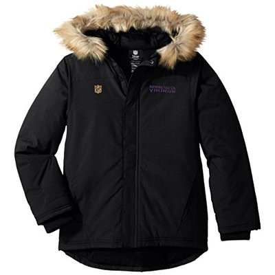 "NFL Youth Boys ""Recon"" Heavyweight Parka Jacket-Black-S(8), Minnesota Vikings"