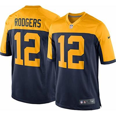 Nike Aaron Rodgers Green Bay Packers NFL Boys Youth 8-20 Navy Alternate On-Field Jersey (Youth Large 14-16)