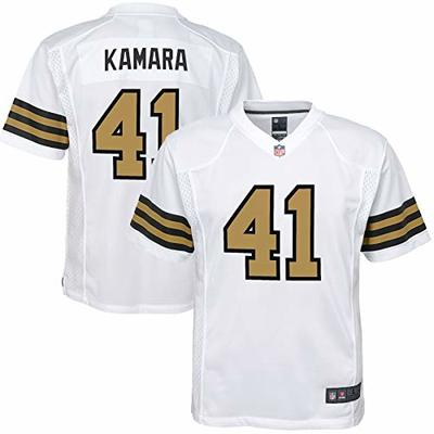 NFL Youth 8-20 Color Rush Alternate Color Game Day Player Jersey (Alvin Kamara New Orleans Saints White Color Rush, 18-20)