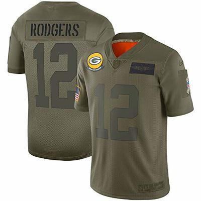 Nike Aaron Rodgers Green Bay Packers NFL Boys Youth 8-20 Salute to Service Green Camo On-Field Jersey (Youth Large 14-16)