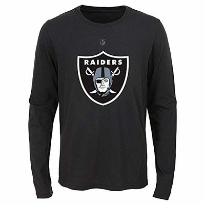 Outerstuff NFL Youth Boys (8-20) Flux Long Sleeve Ultra Tee, Oakland Raiders Youth Large (14-16)