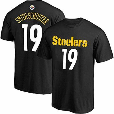 NFL Boys Youth 8-20 Team Color Mainliner Official Player Name & Number T-Shirt (Juju Smith-Schuster, Youth Large 14-16)