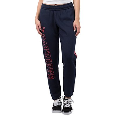 Ultra Game NFL New England Patriots Womens Relaxed Fit Jogger, Navy, Medium