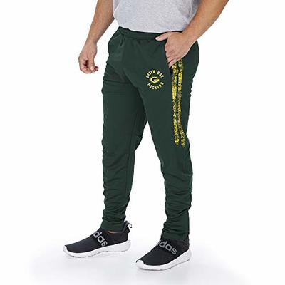 Zubaz NFL Green Bay Packers Men's Track Pant with Static Side Stripes, Solid Green, X-Large