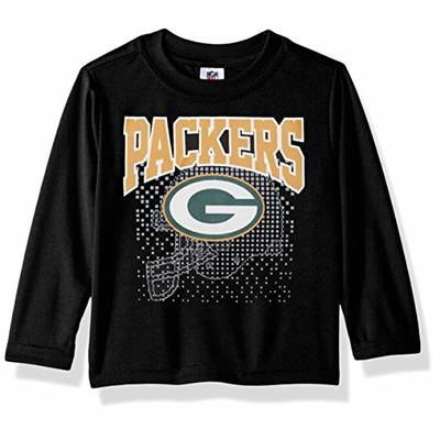 NFL Green Bay Packers Unisex-Baby Short-Sleeve Tee, Black, 18 Months