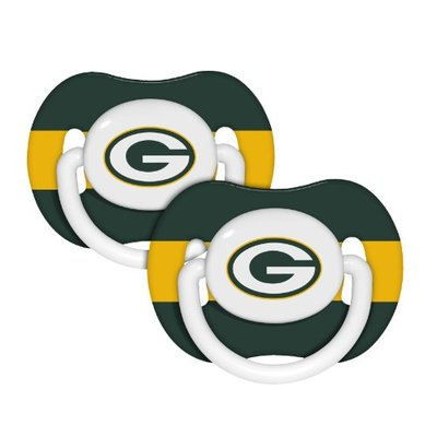 NFL Football 2014 Baby Infant Pacifier 2-Pack – Pick Team (Green Bay Packers – Stripe)